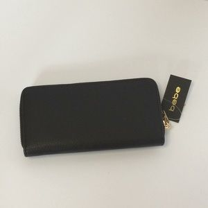 bebe Bags - Bebe Rhinestone Zip Around Wallet